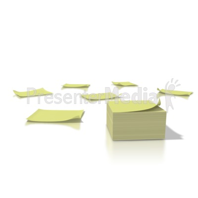 Yellow Notes Presentation clipart