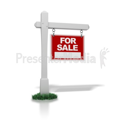 Real Estate Sign For Sale Presentation clipart