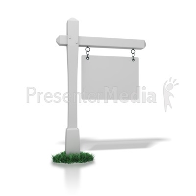 Real Estate Sign Blank Presentation clipart