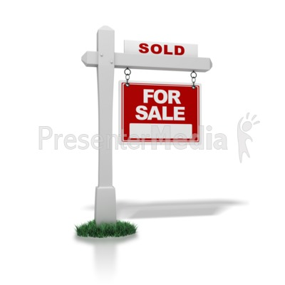 Real Estate Sign Sold Presentation clipart