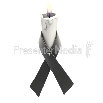 Black Ribbon Candle Presentation clipart