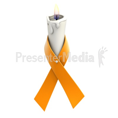 Orange Ribbon Candle Presentation clipart