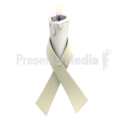 Pearl Ribbon Candle Presentation clipart