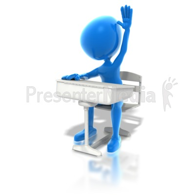 Blue Student Presentation clipart