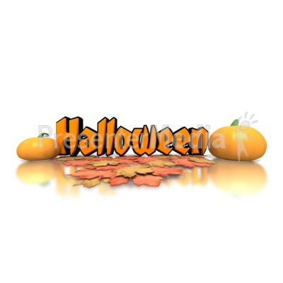 Halloween Pumpkins Text Presentation clipart