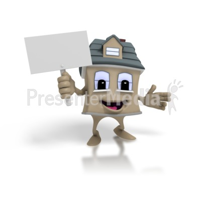House Holding Sign Presentation clipart