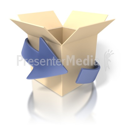 Outside The Box Presentation clipart