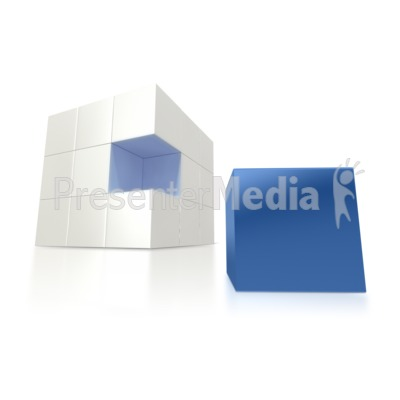 Missing Blue Piece Presentation clipart