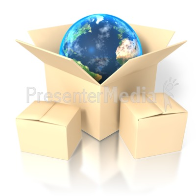 Earth In Box Presentation clipart