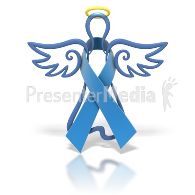 Angel Outline Blue Ribbon Presentation clipart