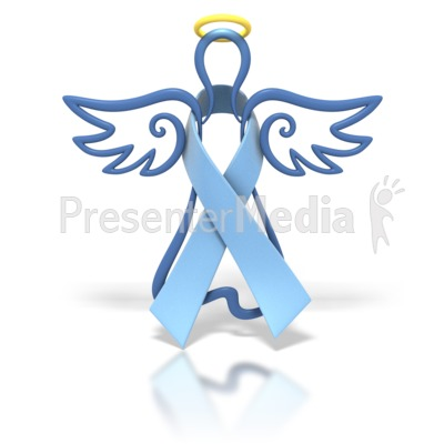 Angel Outline Light Blue Ribbon Presentation clipart
