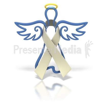 Angel Outline Pearl Ribbon Presentation clipart