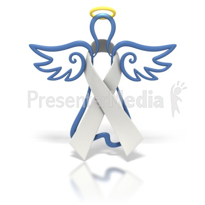 Angel Outline White Ribbon Presentation clipart