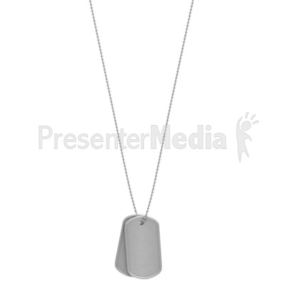 Military Dog Tags Hanging Presentation clipart