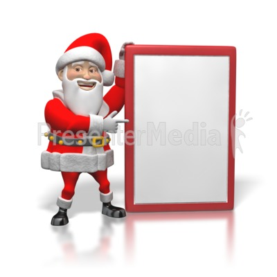 Santa's Sign  Presentation clipart