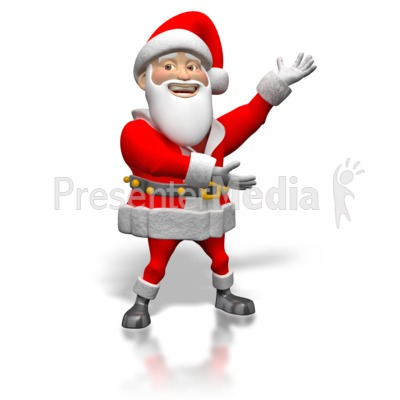 Santa Sign Showing  Presentation clipart