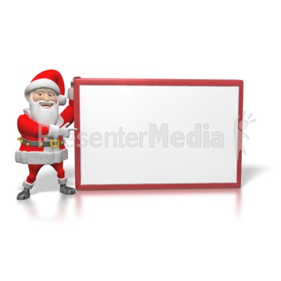 Santa Sign Large  Presentation clipart
