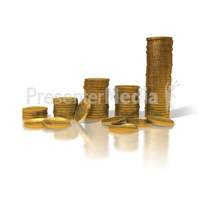 Gold Coin Graph Presentation clipart