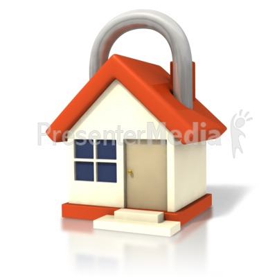 House Lock Closeup Presentation clipart