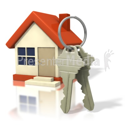 House With Big Keys Presentation clipart