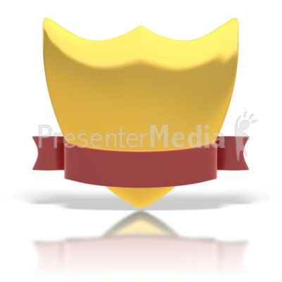 Gold Shield And Ribbon Presentation clipart