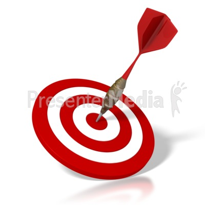 Dart And Target Presentation clipart