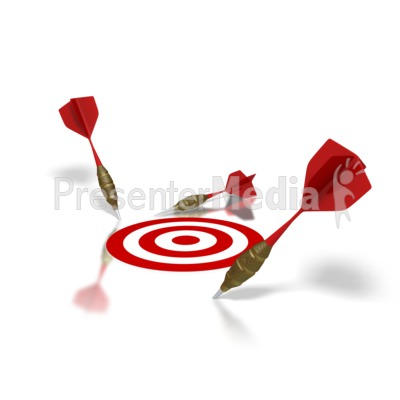 Miss The Target Presentation clipart