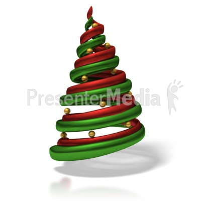 Stylized Christmas Tree Presentation clipart