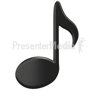 Music Eighth Note Presentation clipart