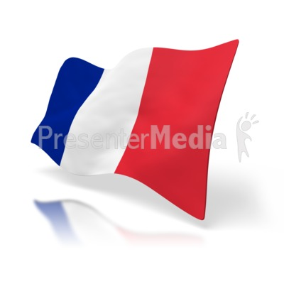 France Flag Perspective Presentation clipart