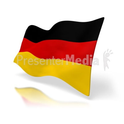 Germany Flag Perspective Presentation clipart