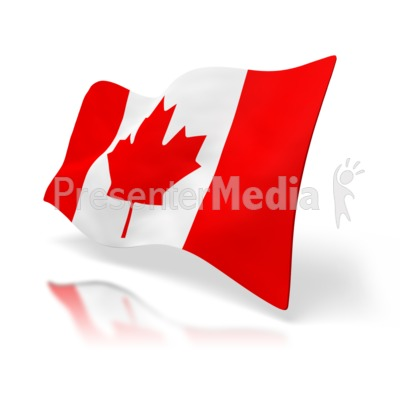 Canada Flag Perspective Presentation clipart