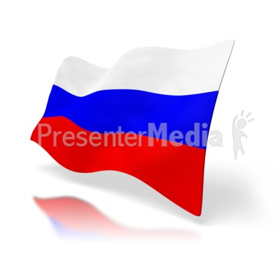 Russia Flag Perspective Presentation clipart