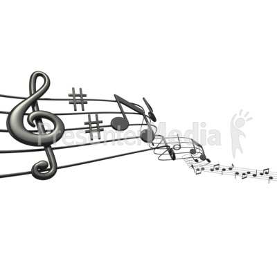 Music Notes Sheet Presentation clipart