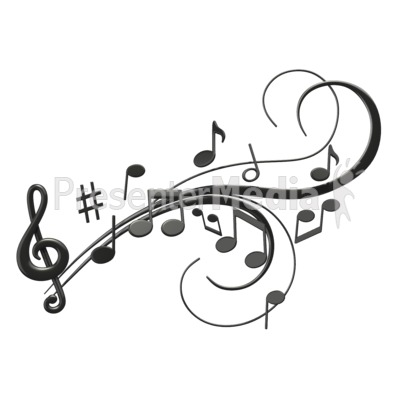 Music Notes Swoosh Presentation clipart