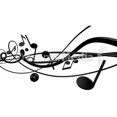 Music With Random Notes Lines Presentation clipart