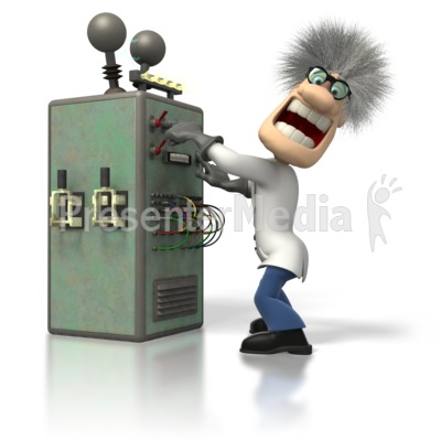 Mad Scientist Machine Presentation clipart