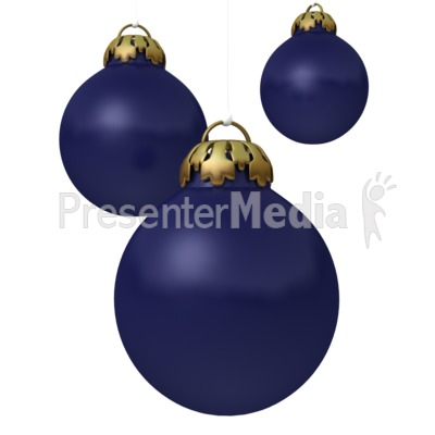 Blue Christmas Ornaments Presentation clipart