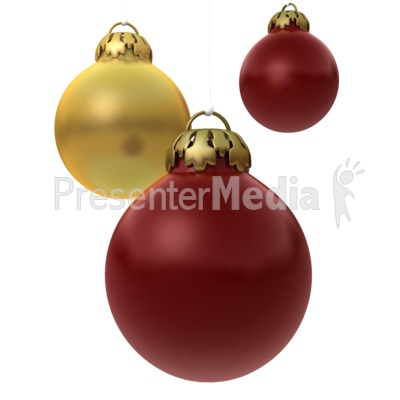 Red Gold Ornaments Presentation clipart