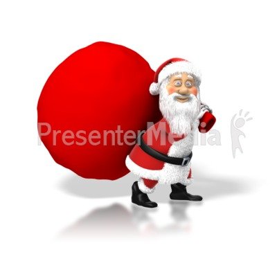 Santa Big Bag Presentation clipart