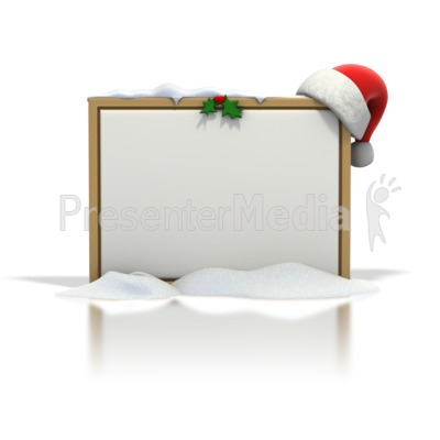 Christmas Seasonal Blank Snow Board Presentation clipart