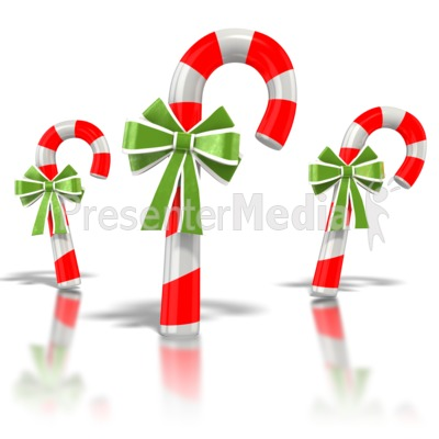 Three Candy Canes Presentation clipart