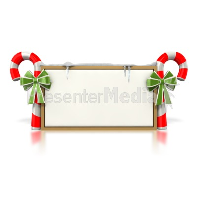 Candy Cane Sign  Presentation clipart