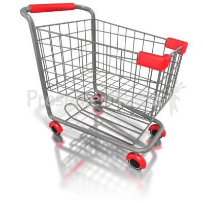 Empty Shopping Cart  Presentation clipart