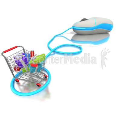 Internet Shopping for Presents  Presentation clipart