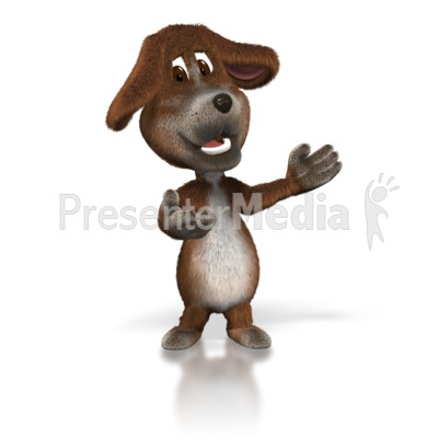 Dog Presenter Presentation clipart