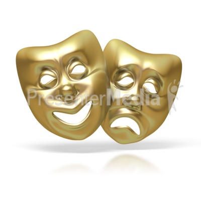 Comedy Tragedy Theater Masks Presentation clipart