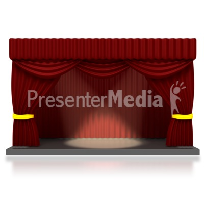 Theater Stage with Spotlights Presentation clipart