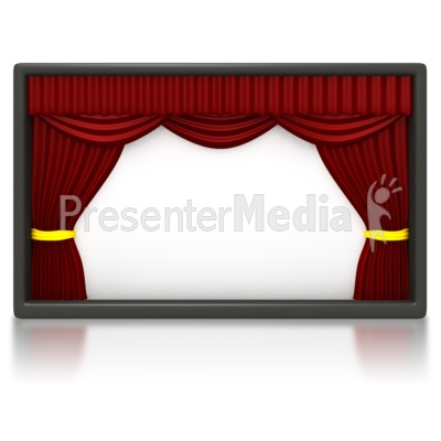 Theater Stage Blank Panel Presentation clipart