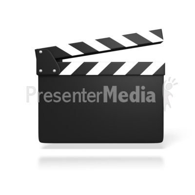 Blank Film Slate or Clapboard Presentation clipart